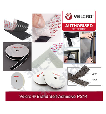 Genuine VELCRO® Brand PS14 Self Adhesive HOOK & LOOP ( BOTH) Sticky Strips Tapes