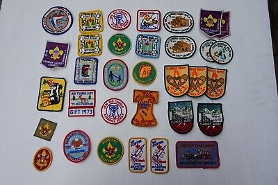 Vintage Lot of Boys Cub Webelo Scout Patches 1970's