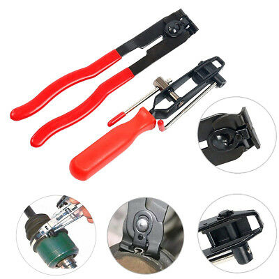 2pcs Auto Cv Joint Boot Clamps Pliers With Cutter, Ear Type Car Banding Tool