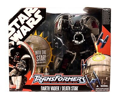 Star Wars Transformers Darth Vader Transforms into Death Star Action Figure Set