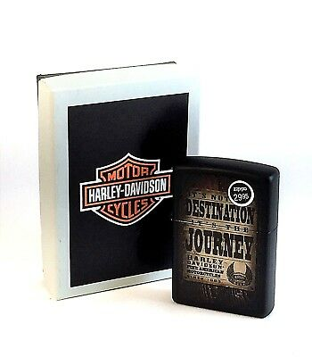 NEW In Box Harley Davidson Its Not the Destination Its the Journey Zippo 28351