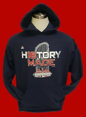 new concept 6b8ea 72c77 BOSTON RED SOX 2018 WORLD SERIES BLUE Hoodie Hooded Sweatshirt -*HISTORY  MADE*