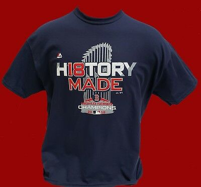 Boston Red Sox 2018 WORLD SERIES NAVY BLUE T-SHIRT - *HISTORY MADE*