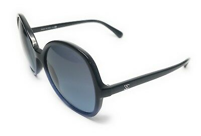 ee1f1cd0ee73 Chanel 5351 1558 s2 Black   Blue Sunglasses Authentic Italy 59-17