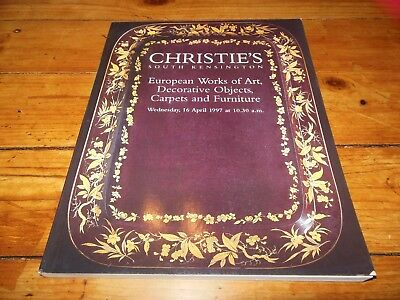 Christie's S. Kensington EUROPEAN WORKS OF ART, DECORATIVE OBJECTS ... 1997