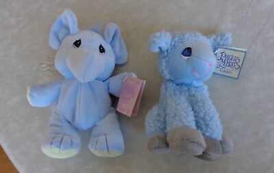 Precious Moments Pals Simon, lamb & Tender Tails blue elephant - w/tags