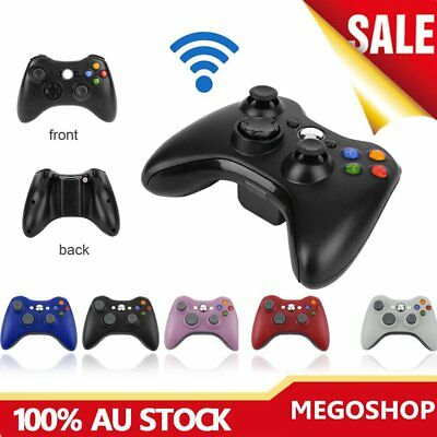 2.4G Game Wireless Controller Gamepad Joystick & PC Receiver for XBOX360 LOT CR