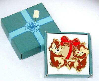 Rare LE Disney Pin 43360✿Chip Dale Christmas Present Holiday Surprise Mystery LE