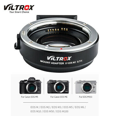 Viltrox EF-EOS M2 Auto Focus Lens Adapter Ring 0.71X Focal Lenth for Canon Z3D7