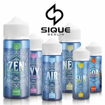 SIQUE Berlin AIR - IVY - NEO - ZEN Shake and Vape 100 / 120 ml E-Liquid 0 / 3mg