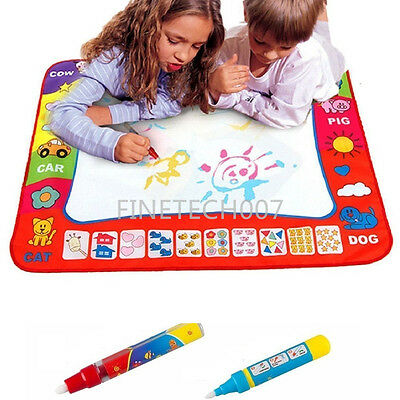 80X60cm Water Drawing Toy Painting Writing Mat Board 2 Magic Pens Doodle Mat suu