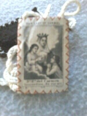 Antique Our Lady Or Carmel/Carmen Priests Chamber Pectoral Scapular