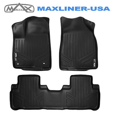 Smartliner 2014-2019 Toyota Highlander Custom Fit Floor Mats Liner Set Black