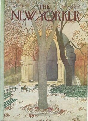 COVER ONLY ~ The New Yorker magazine ~ October 28 1974 ~ MARTIN ~ Central Park