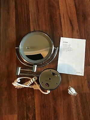 Wall mounted LED Lighted Vanity Makeup Mirror with 10x