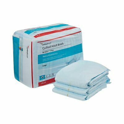 Wings HEAVY Absorbency Adult Incontinence Brief L Quilted 66034 72/Case