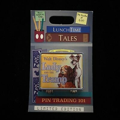 LE Lady and the Tramp Lunch Time Tales Lunchbox Lunchtime Dog Puppy Disney Pin