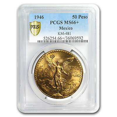 1946 Mexico Gold 50 Pesos MS-66+ PCGS (Finest Known) - SKU#179039