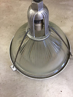 "Holophane 22"" Salvaged Industrial   Light Fixtures, from 1940's 1950's"
