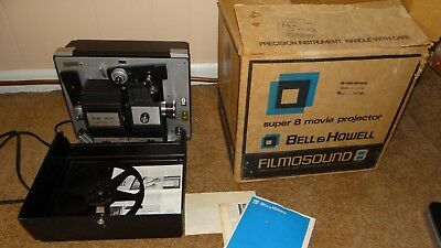 Vintage Bell & Howell Filmosound Super 8 Film Projector Model 458ZR w/ box