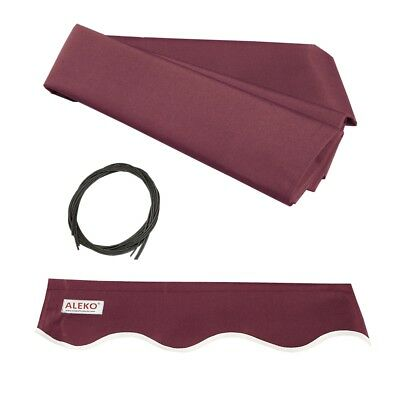 ALEKO Fabric Replacement For 10x8 Ft Retractable Awning Burgundy Color
