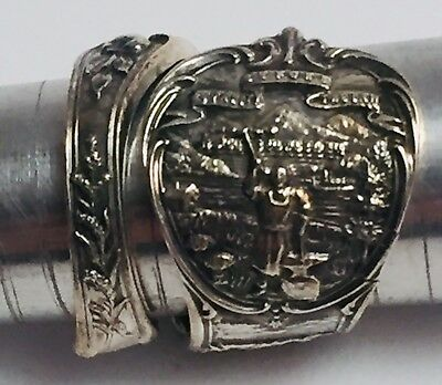 Vintage Handmade Mechanics Co. Sterling Silver Nebraska State Spoon Ring Size: 8