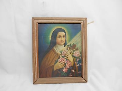 Religious Print ST. THERESE OF LISIEUX The Little Flower of JESUS Wall Hanging