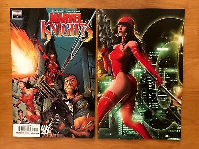 Marvel Knights 20th 3 Main Cover + Andrews Connecting Set Marvel 2018 NM+