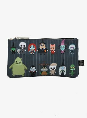 DISNEY, THE NIGHTMARE BEFORE CHRISTMAS Pouch Loungefly Cloth Cosmetic Bag NEW!