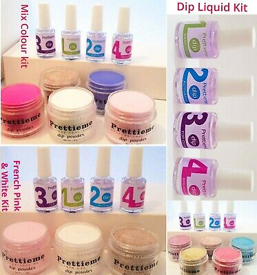 TOTAL 10ML Nail Dipping Powder KIT *TOP COAT* BASE COAT *ACTIVATOR* BRUSH SAVER*