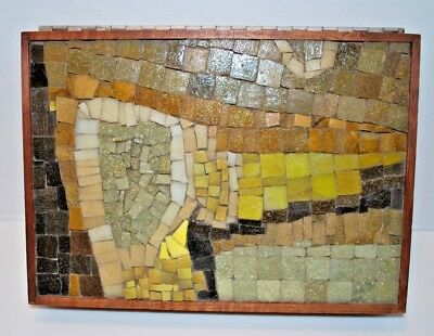 Mid Century Modern Abstract Mosaic Dresser Box - Artist Made - Eames Danish