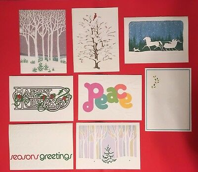 Vintage Recycled Paper Products Holiday Christmas Cards 1980's NEW OS - YOU PICK