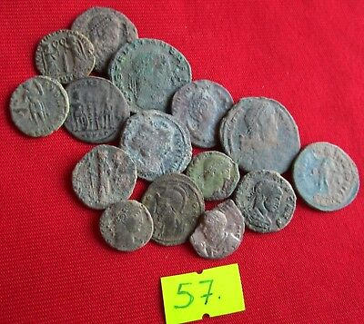 QUALITY UNCLEANED COINS - Ancient Roman - VERY GOOD. Lot with 15 pieces .No.57