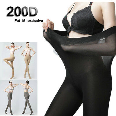 200D Plus Size Ultra Elastic Tights Stockings Women Shaping Velvet Pantyhose New