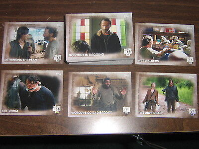 2016 Topps The Walking Dead Season 5 - Complete Card Set #1-100