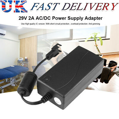 29V 2A AC/DC 3Pin Electric Recliner Sofa Chair Adapter Transformer Power Supply