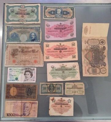 Lot 29 Vintage Circulated Foreign Paper Money Currency British Pound 1910