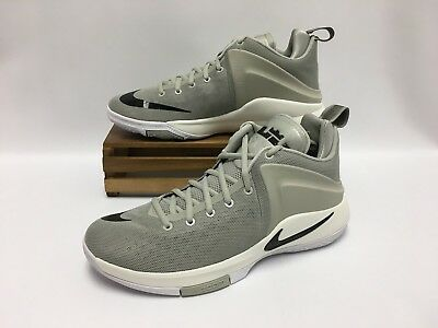 quality design 5bd8e 545ee Nike Zoom Witness LeBron Basketball Shoes Grey Black White 852439-011 Men s  12