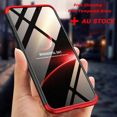 For iPhone XR XS MAX 11 Pro 7 8 Plus 360°Full PC Hard Cover Shockproof Slim Case