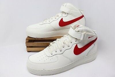 c740a6a444ae3b Nike Air Force 1 Mid  07 AF1 Sail University Red 315123-126 Men s Size