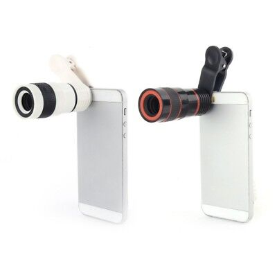 Mobile Cell Phone Camera 12x Optical Zoom Lens Telescope Telephoto Clip on