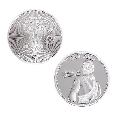 Silver Plated Michael Jackson Commemorative Coin gift YG