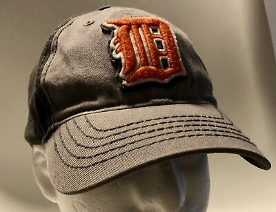 Detroit Tigers Gray Baseball Hat Cap Stretch Fit  47 Forty Seven Brand Genuine