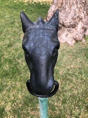 Vintage Heavy Cast Iron Horse Head Hitching Post