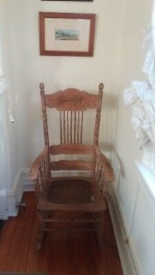 Antique Grandfathers Rocking Chair