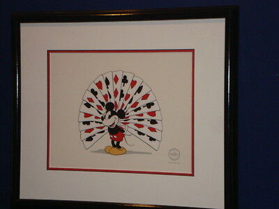 Disney Mickey Proud As A Peacock 20x18 Sericel Cel Animation Art With Coa