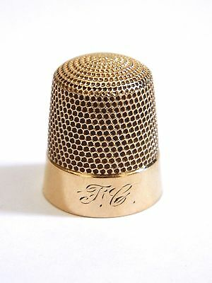 14K Yellow Gold Thimble 21mm x 18mm 6.3g