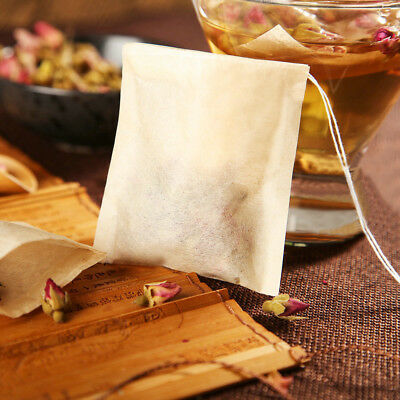 Natural Tea Bag Filter Paper Strainer Drawstring Disposable Teabag Infuser 100X