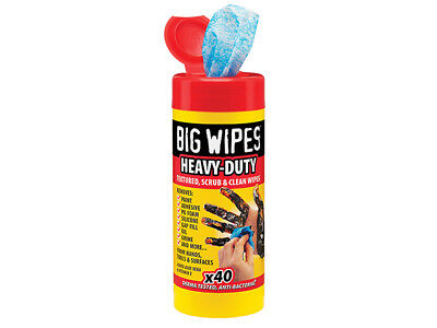 Big Wipes - Red Top Heavy-Duty Wipes Tub of 40 - BGW2029