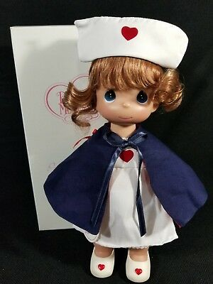 "Precious Moments Doll Nurse Blonde 12"" With love & Care to Share."